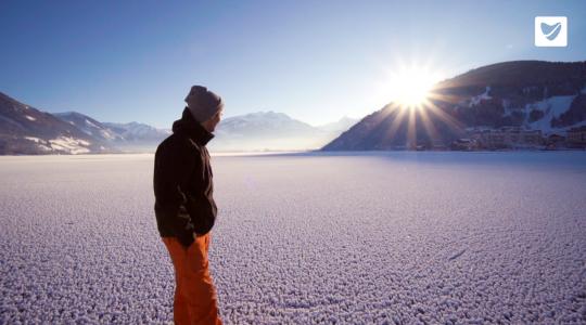 De Zeller See is bevroren!