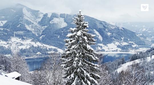Sneeuwdump op de Schmittenhöhe