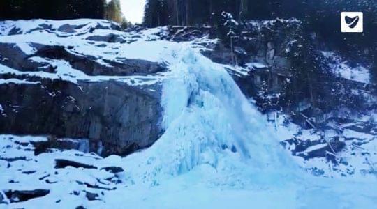 Krimmler Wasserfälle in de winter