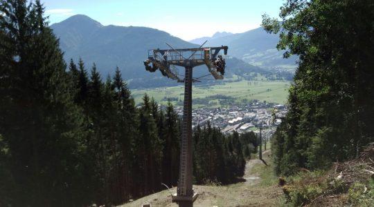 Liftpalen Areitexpress in Zell am See geplaatst