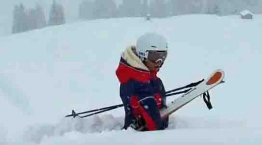 Heel veel sneeuw in het westen van Oostenrijk