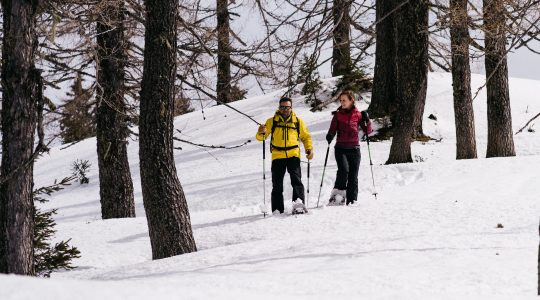 Prachtig sneeuwschoenwandelen in Sankt Johann in Salzburg