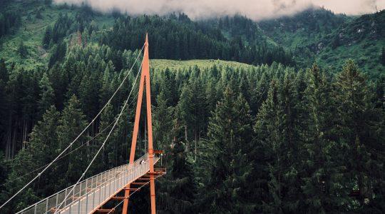 Golden Gate Brücke en Baumzipfelweg in Saalbach